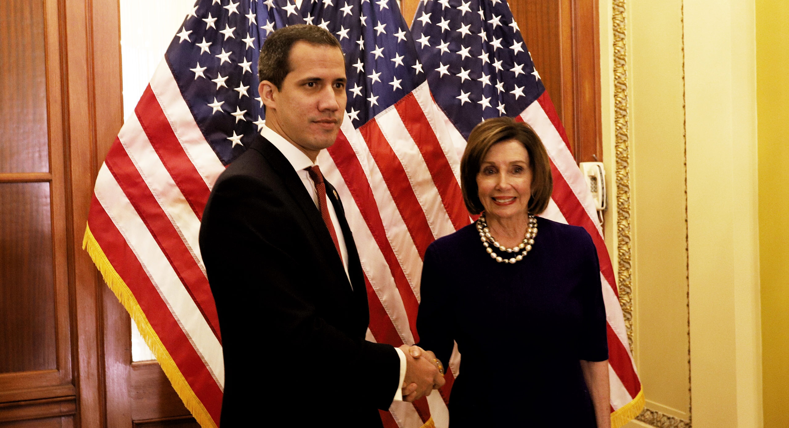 Image result for guaido + pence + pelosi